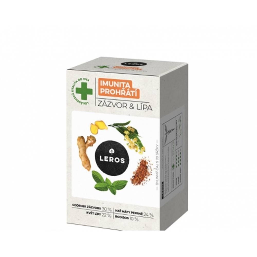 Leros, s.r.o. LEROS IMUNITA PREHRIATIE ZÁZVOR & LIPA bylinný čaj, nálevové vrecúška 20x2 g (40 g)