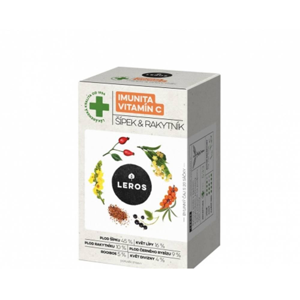 Leros, s.r.o. LEROS IMUNITA VITAMÍN C, ŠÍPKA & RAKYTNÍK bylinný čaj, nálevové vrecúška 20x2 g (40 g)