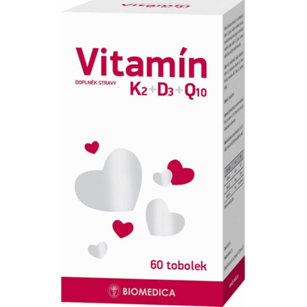 Biomedica, spol. s.r.o. Biomedica Vitamín K2+D3+Q10 60 cps