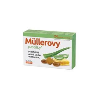 MÜLLEROVE PASTILKY Propolis, aloe vera, vitamín C 24 kusov