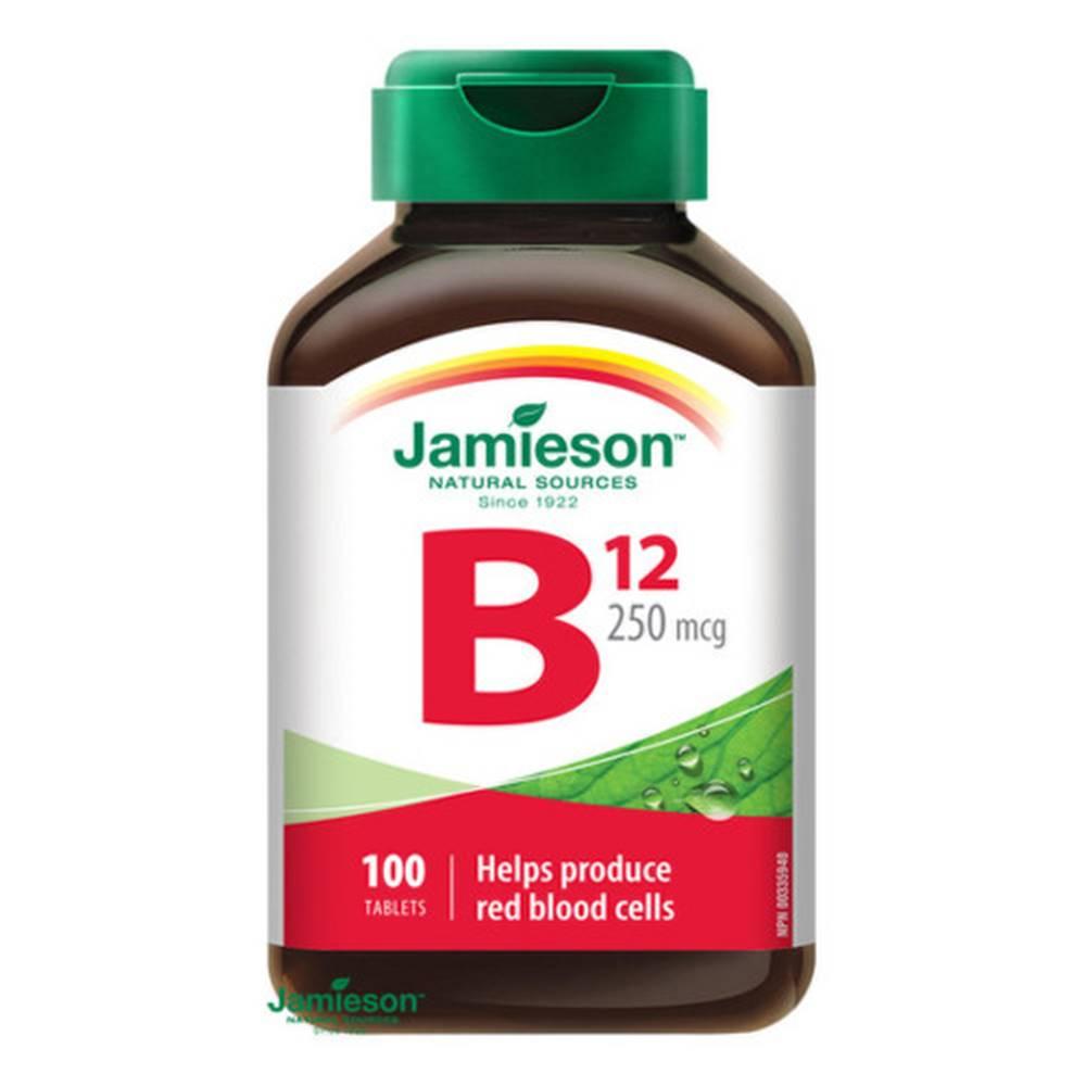 Jamieson JAMIESON Vitamín B12 metylkobalamín 250 µg 100 tabliet