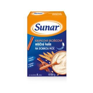 SUNAR Krupicová škoricová mliečna kaša dobrú noc 225 g