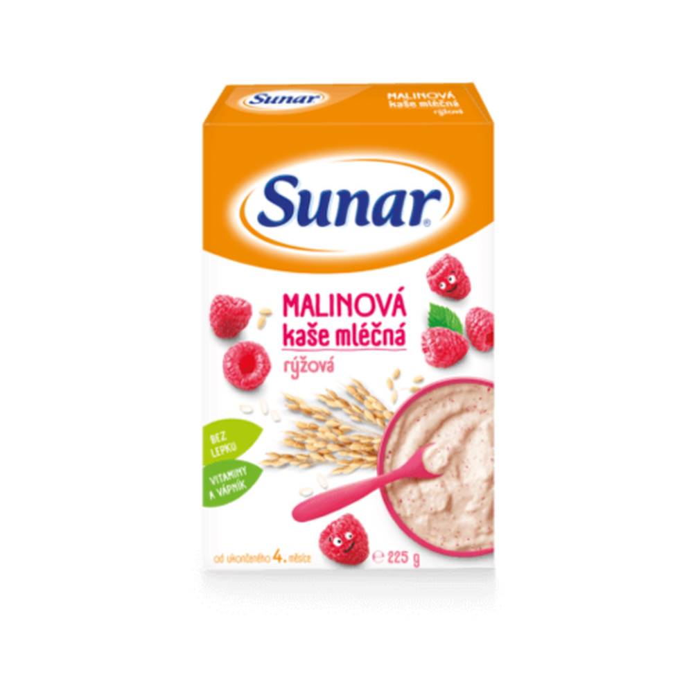 Sunar SUNAR Malinová kaša mliečna ryžová 225 g