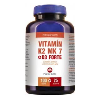 PHARMA ACTIV Vitamín K2 MK 7 + D3 forte 100 + 25 tabliet ZADARMO + Fitness náramok