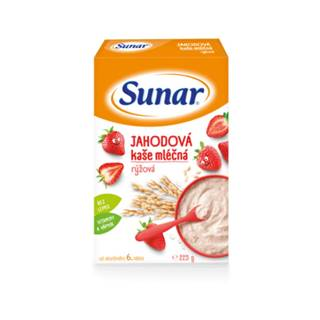 SUNAR Jahodová kaša mliečna ryžová 225 g