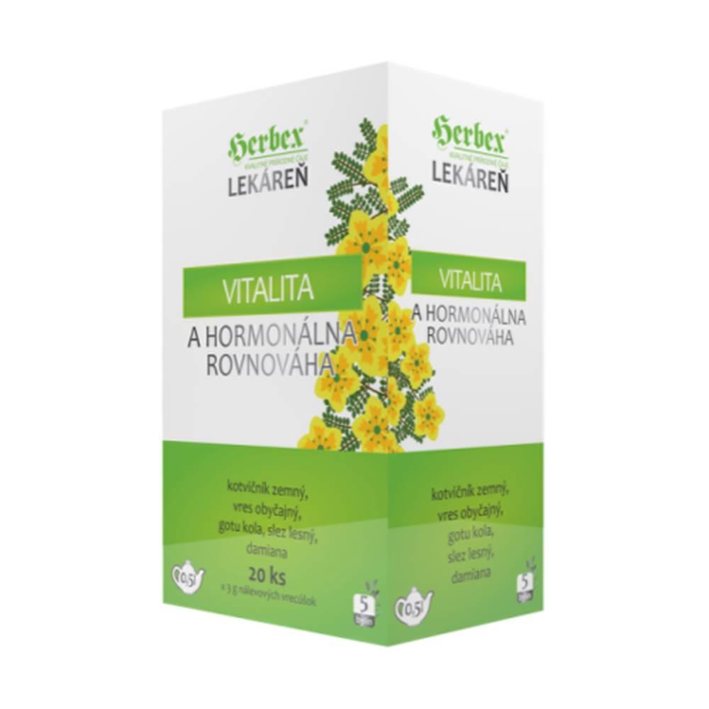 Herbex HERBEX Čaj vitalita a hormonálna  rovnováha 20 x 3 g