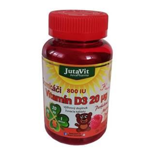 JUTAVIT Gumkáči vitamín D3 20 µg kids 60 tabliet