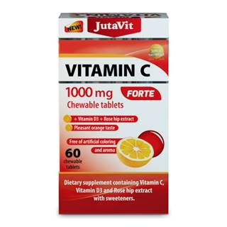 JUTAVIT Vitamín C 1000 mg forte s vitamínom D3 60 tabliet
