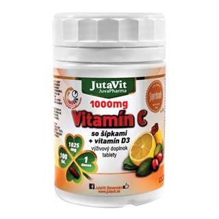 JUTAVIT Vitamín C 1000 mg so šípkami + vitamín D3 100 tabliet