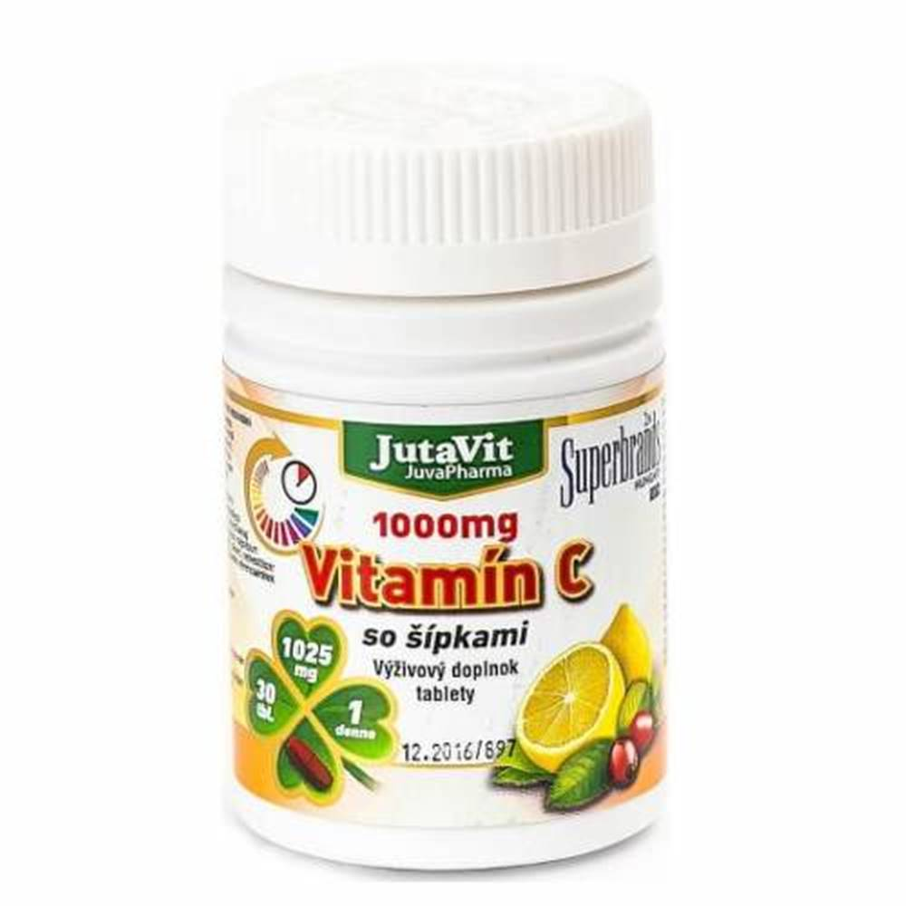 JUTAVIT JUTAVIT Vitamín C 1000 mg so šípkami 30 tabliet