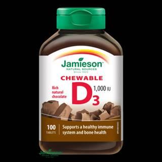 JAMIESON Vitamín D 1000 IU čokoláda 100 cmúľacích tabliet