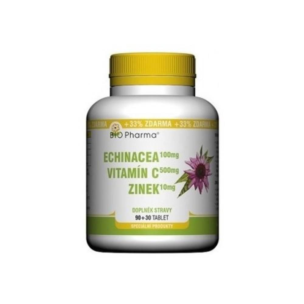 BIO Pharma BIO PHARMA Echinacea, vitamín C, zinok 90 + 30 tabliet ZADARMO