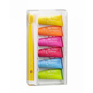 CURAPROX BE YOU 6-pack zubná pasta 6x10 ml + zubná kefka CS 5460, 1 set