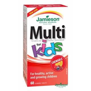Jamieson Multi Kids tablety na cmúľanie so železom 60tbl