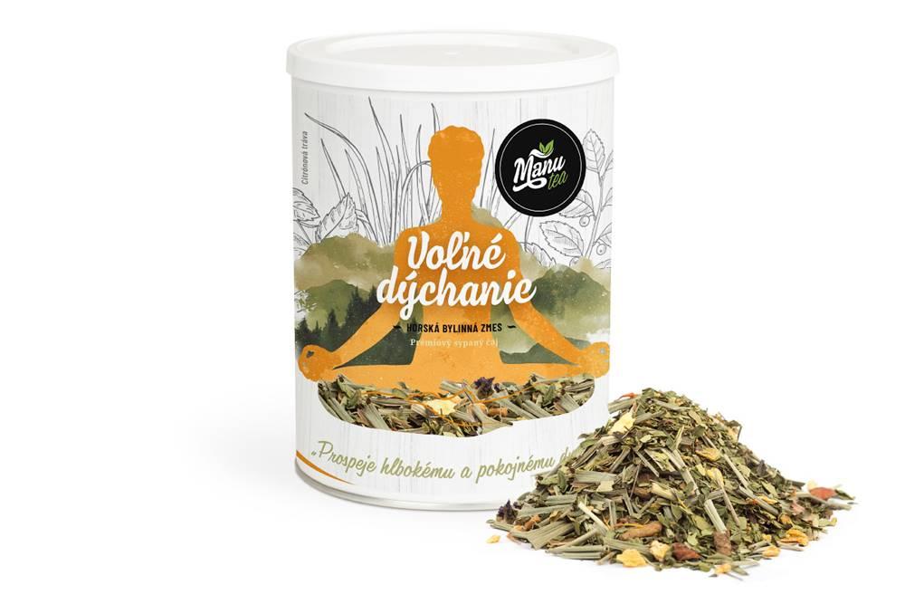 Manu tea VOĽNÉ DÝCHANIE - bylinný čaj 160g