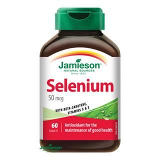 JAMIESON Selén 50 µg s betakaroténom a vitamínom C a E 60 tabliet