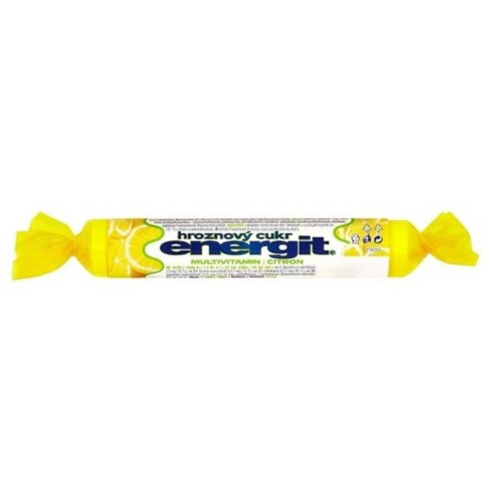 Energit ENERGIT Hroznový cukor multivitamín, citrón 17 tabliet