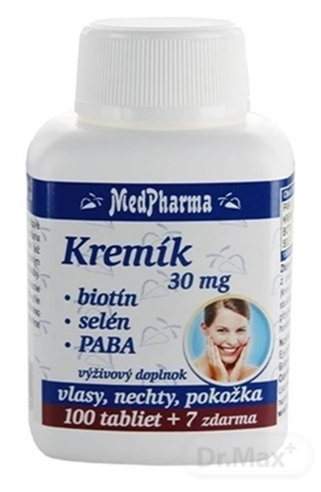 Medpharma MedPharma KREMÍK 30mg+Biotín+Selén+PABA