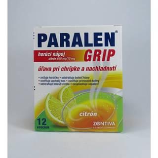 Paralen Grip horúci nápoj citrón  650 mg/10 mg 12 sáčkov