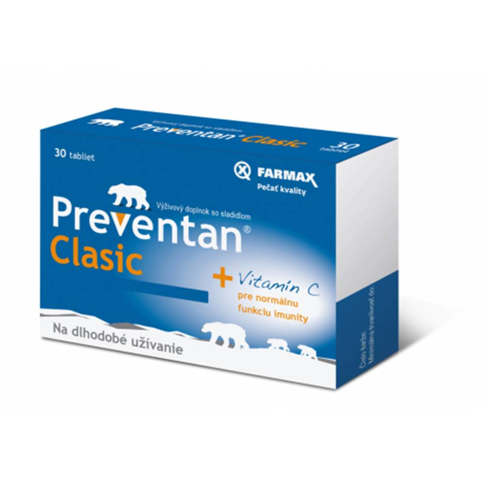 Farmax Preventan Clasic + vitamín C 30 tbl
