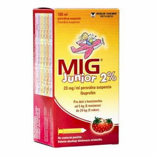 MIG Junior 2% perorálna suspenzia (sirup) pre deti 100 ml