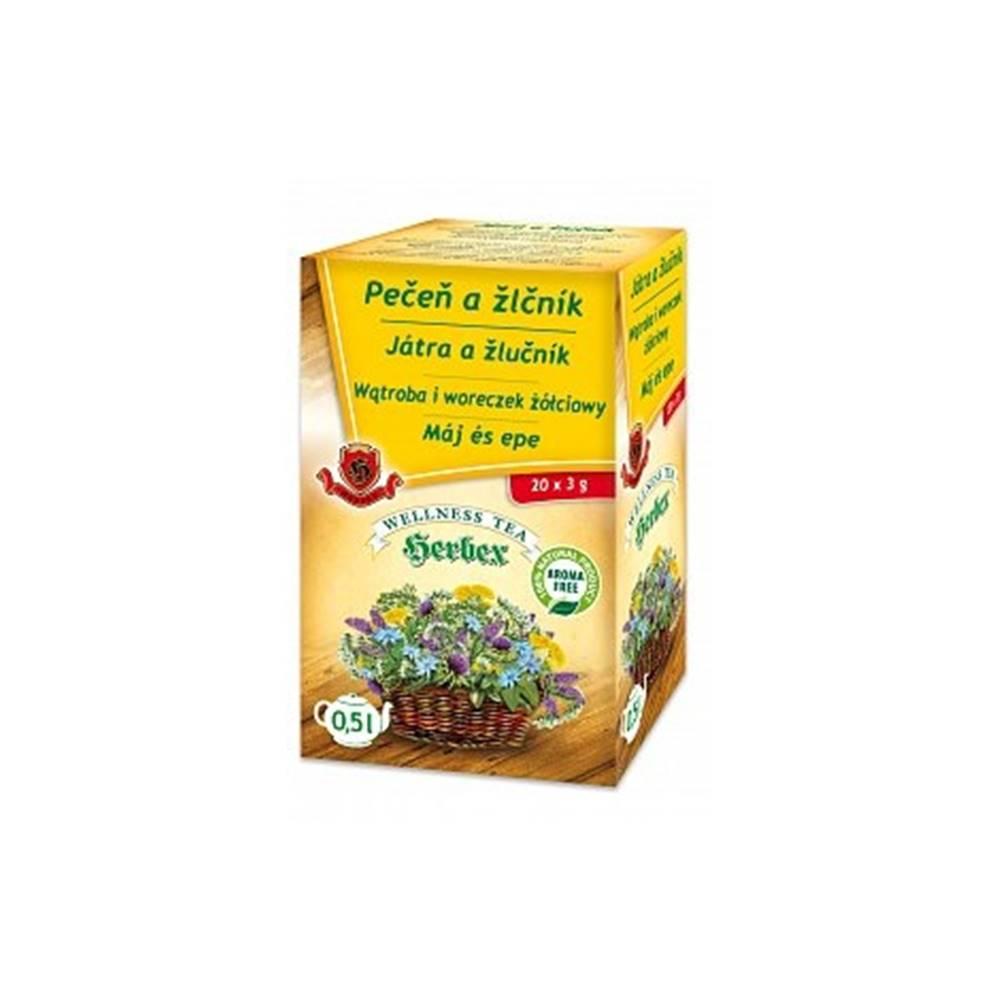 Herbex Pečeň a žlčník porciovaný čaj 20x3g