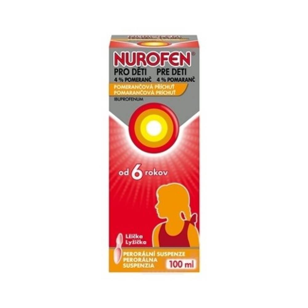Nurofen suspenzia pre deti 4% pomaranč 100 ml