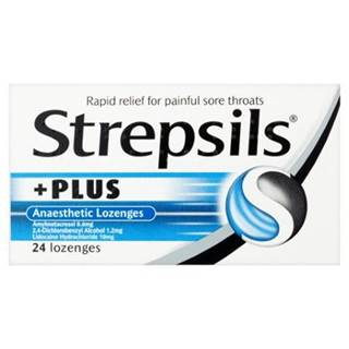 STREPSILS PLUS 24 pastilky