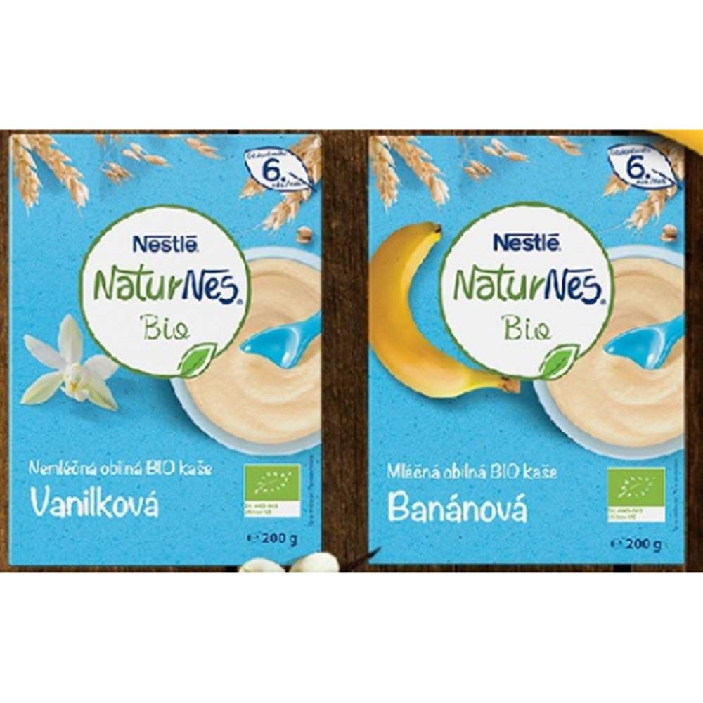 Nestle Naturnes Bio banánová mliečna obilná kaša 200g