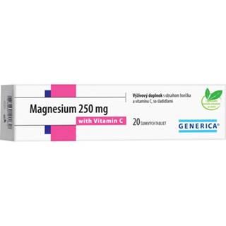 Generica Magnesium 250 mg + Vitamin C 20 tbl eff.
