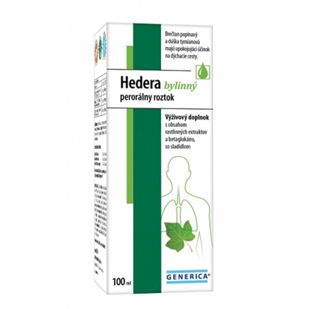 GENERICA Hedera bylinný perorálny roztok 100 ml