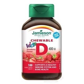 JAMIESON Vitamín D3 kids 400 IU jahoda 100 tabliet
