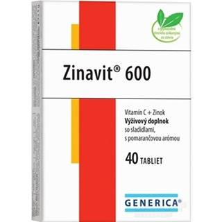 GENERICA Zinavit 600 s pomarančovou arómou tbl 40
