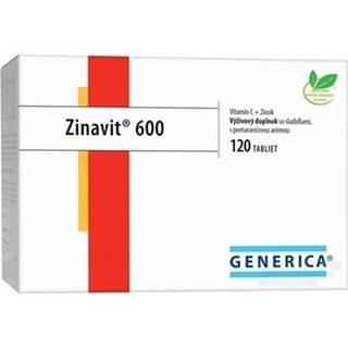 GENERICA Zinavit 600 s príchuťou pomaranč 120 tabliet