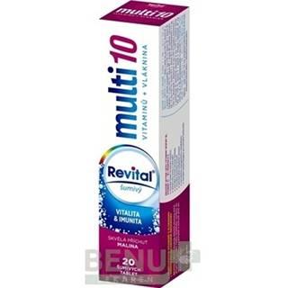 Revital multi 10 vitamínov + vláknina šumivý tbl eff 20