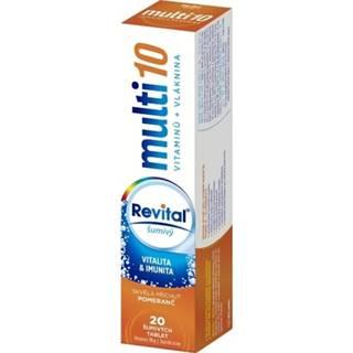 REVITAL Multi 10 vitamínov + vláknina 20 šumivých tabliet