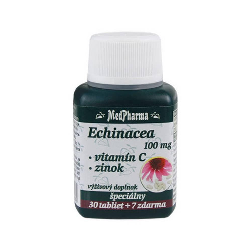 Medpharma MEDPHARMA Echinacea 100 mg, vitamín C, zinok 30 + 7 tabliet ZADARMO