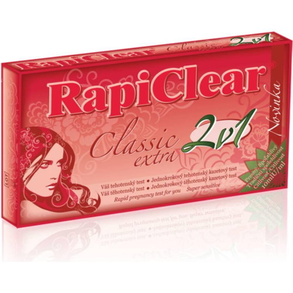 Rapiclear RAPICLEAR Tehotenský test classic extra 2v1 2 kusy