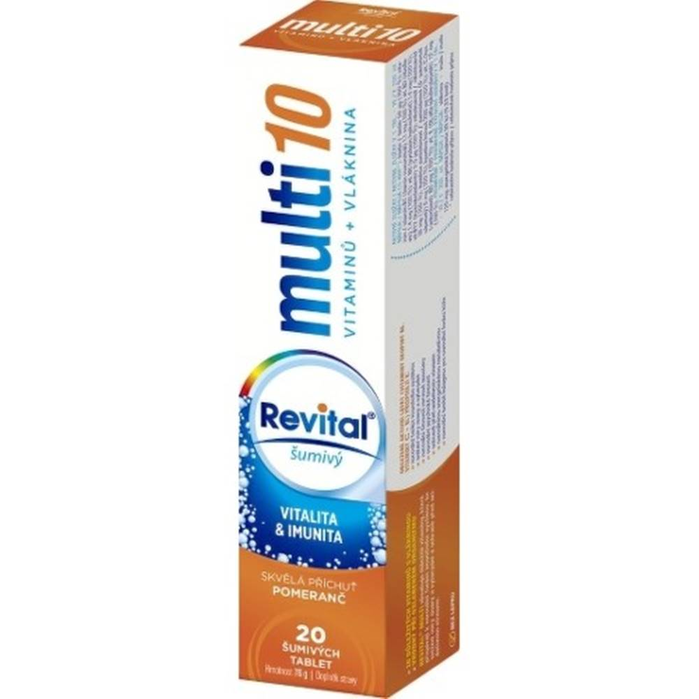 Revital Revital multi 10 vitamínov + vláknina šumivý tbl eff 20