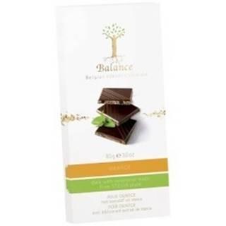 BALANCE Horká čokoláda so sladidlom zo stévie s príchuťou pomaranč 85 g