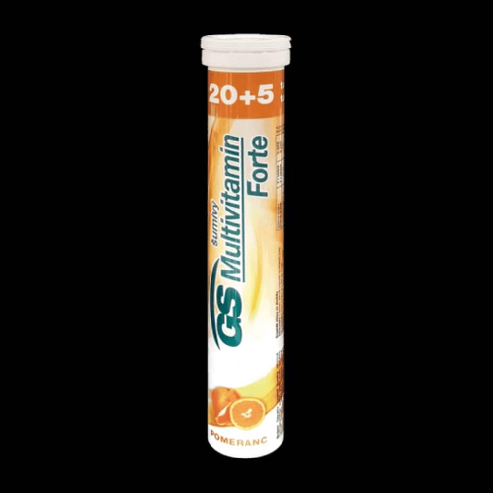 Green swan GS Multivitamín forte šumivý pomaranč 20 + 5 šumivých tabliet ZADARMO