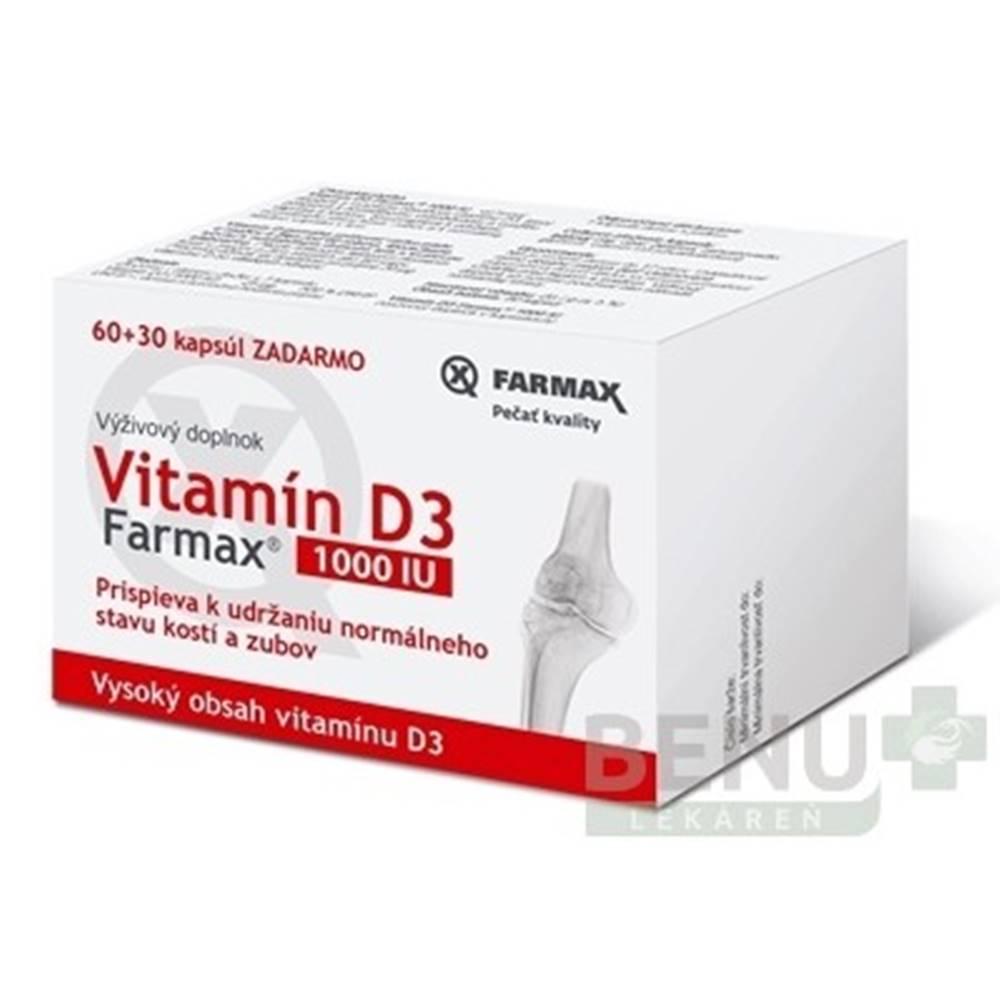 FARMAX FARMAX Vitamín D3 1000 IU 60 + 30 tabliet ZADARMO