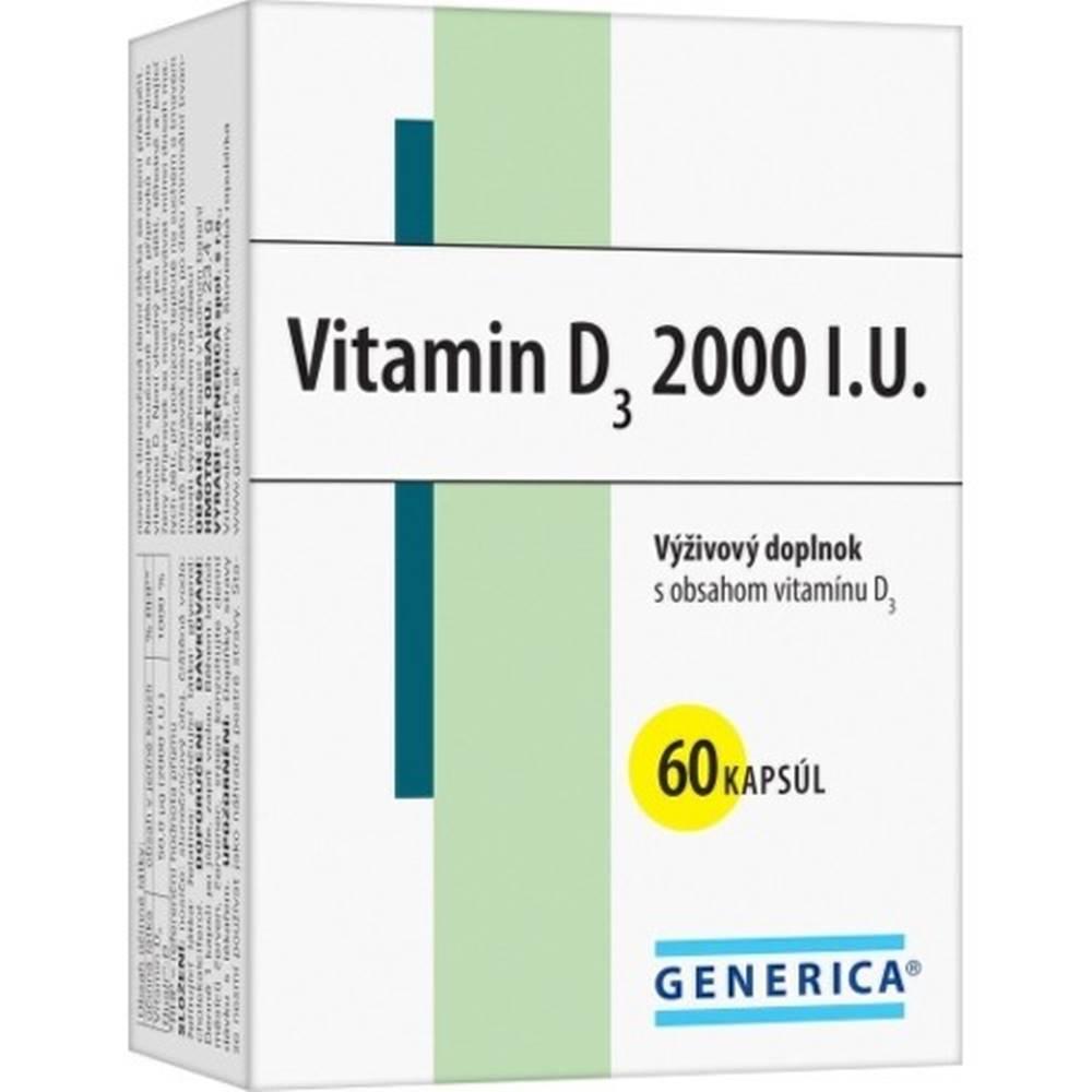 Generica GENERICA Vitamin D3 2000 I.U. cps 60