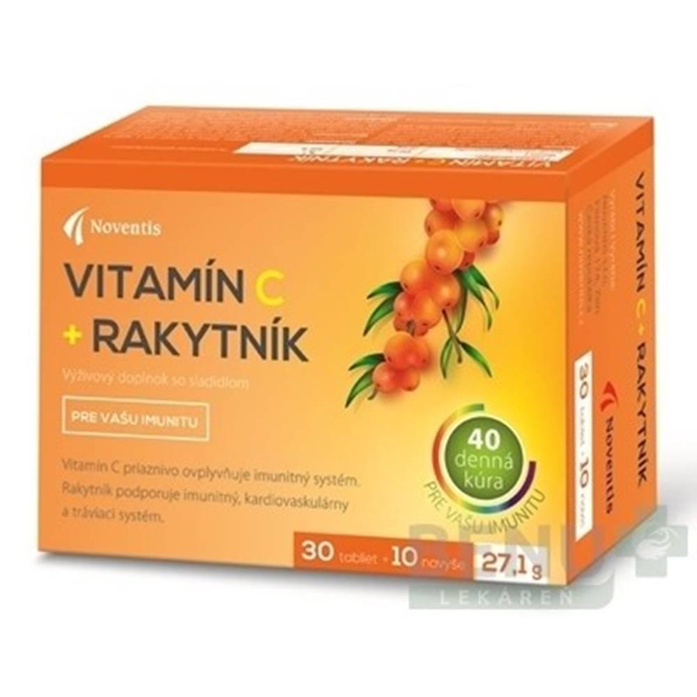 NOVENTIS Noventis Vitamín C + Rakytník tbl 40