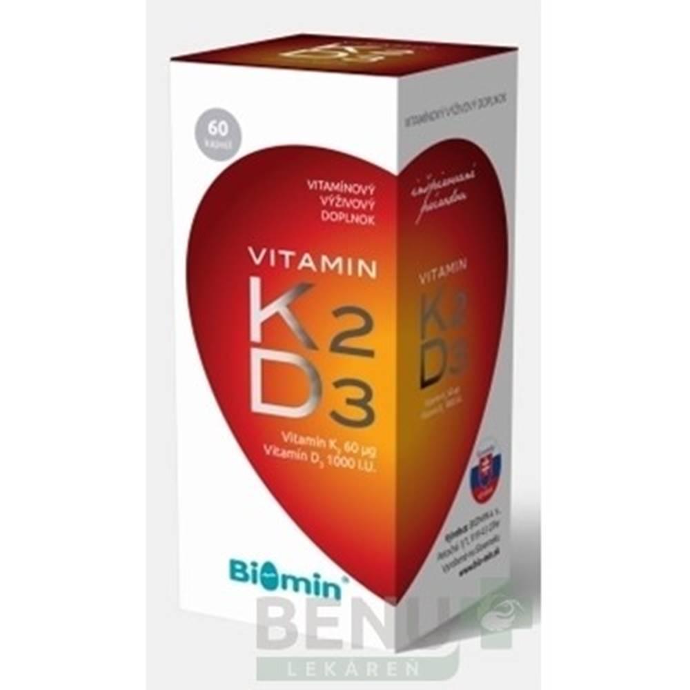 Biomin BIOMIN VITAMIN K2 + D3 1000 I.U. cps 60