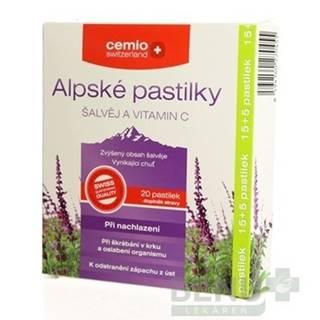 CEMIO Alpské pastilky šalvia a vitamín C 15 + 5 tabliet ZADARMO