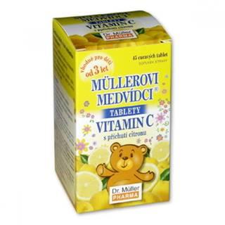 MÜLLEROVE medvedíky - vitamín C tbl s príchuťou citrónu 45 ks tbl 45