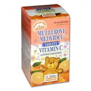 MÜLLEROVE medvedíky - vitamín C tbl s príchuťou mandarínky 45 ks tbl 45