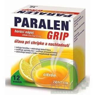 PARALEN GRIP horúci nápoj citrón 650 mg/10 mg 12 vreciek