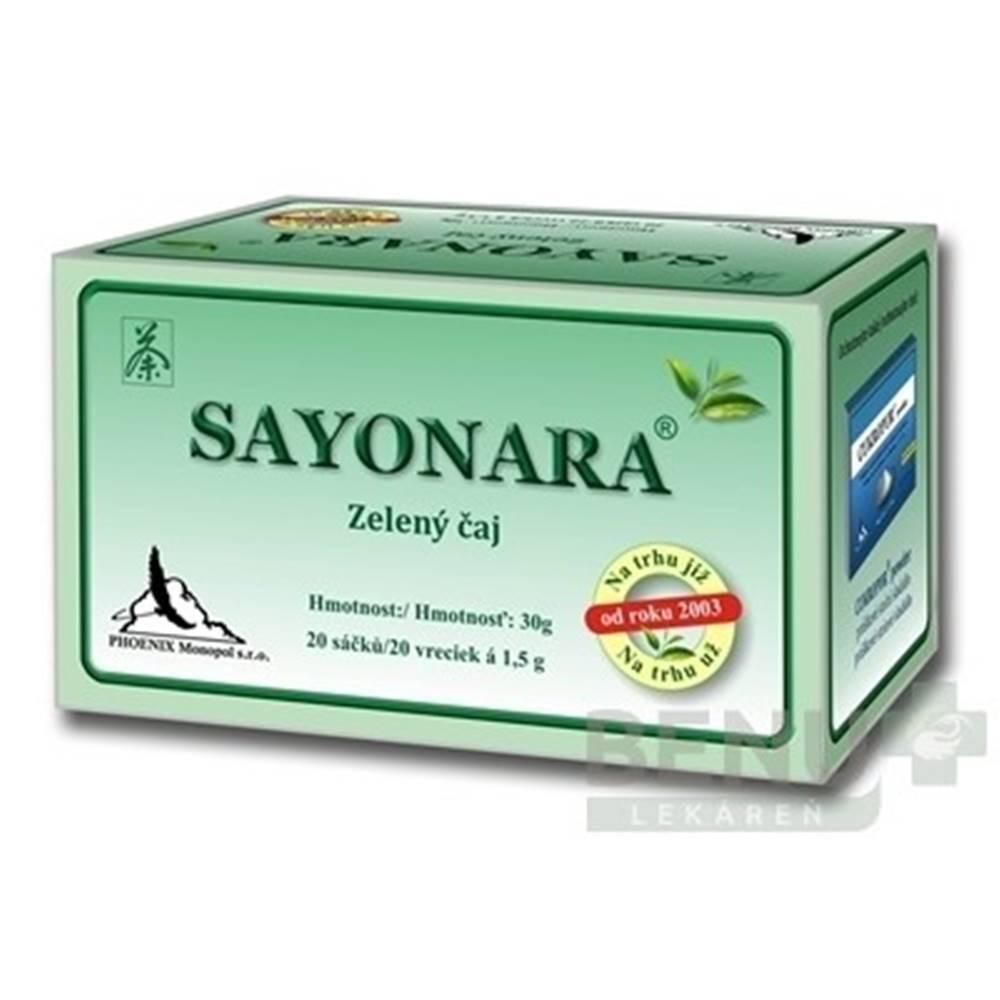 Phoenix division group s.r.o. SAYONARA zelený čaj 20x1,5g